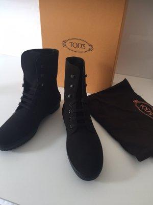 Tod's Bottines à lacets brun foncé-brun noir