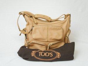 Tod's Tasche sandfarben Leder