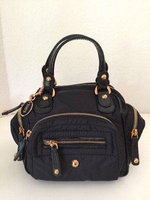 TOD'S Tasche Schwarz Gold Nylon Lackleder TODS Mini Bag Pashmy Cubotto Black