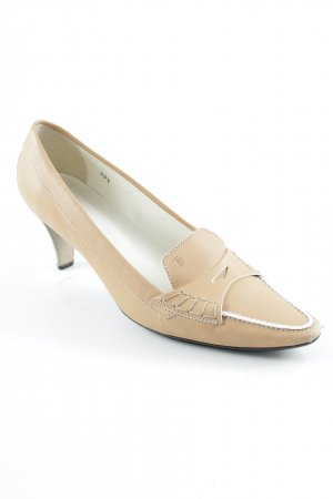 Tod's Zapatos Informales beige-blanco puro estilo «business»