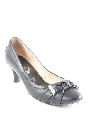 Tod's Loafers zwart-zilver Britse uitstraling