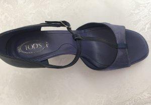 Tod's Platform High-Heeled Sandal blue violet-blue suede
