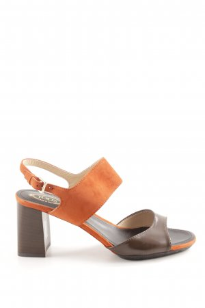 Tod's High-Heeled Toe-Post Sandals light orange-brown business style
