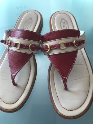 Tod's Sandalo infradito carminio-beige chiaro