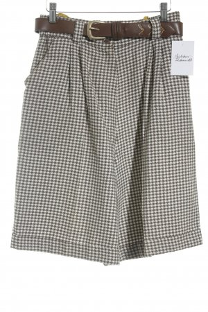 Today Culotte Skirt brown-white check pattern