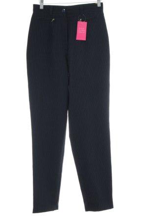 Today Pantalon fuselé bleu-noir motif rayé style d'affaires