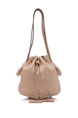 Tods Calfskin Leather Bucket Bag