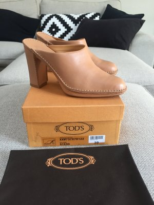 Tod's Heel Pantolettes nude