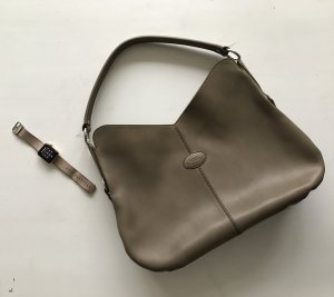 Tods edle Leser Tasche umhänge Hobo taupe