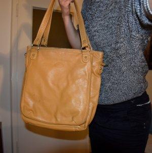 Tods Handtasche / Businesstasche in Beige / Cognac mit vielen Taschen