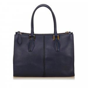 Tod's Tote blue leather
