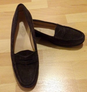 Tods Leder Loafer Slipper in braun gr. 38.5 sehr Guter Zustand