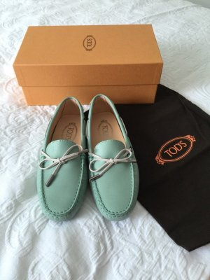 Tods loafers moccasins 37,5 neu mint Halbschuhe