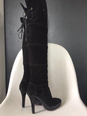 Tod's Kniehoge laarzen zwart Suede