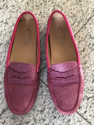 Tod's Mocassins rose cuir