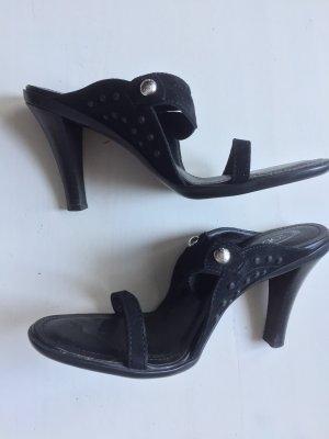 Tod's Heel Pantolettes black