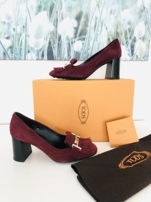 Tod's Gesp-pumps bordeaux-donkerrood Suede
