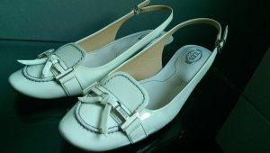 Tod's Ballerine à bride arrière blanc
