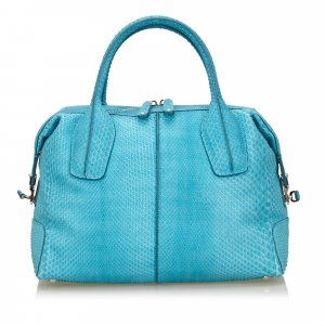 Tods Python D-Styling Satchel