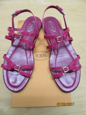 Tod's Strapped High-Heeled Sandals pink leather