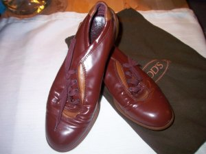 0039 Italy Zapatos brogue burdeos
