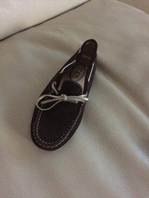 Tods Schuhe dunkel Braun Wildleder sehr guter Zustand