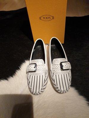 Pantoffels wit-zwart