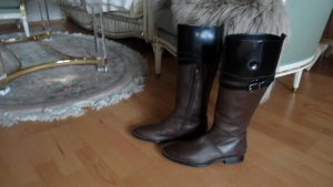 Tod's Cuissarde noir-bronze cuir
