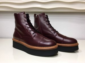 Tod's Platform Boots brown red-black