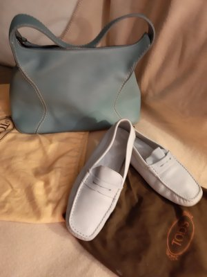 0039 Italy Low Shoes azure-pale blue leather