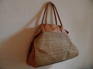 TODS Tasche XL Hand Bag Leder/Canvas,  braun/Beige Luxus Pur!