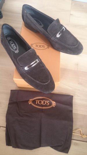 Tods Tod's Loafer Loafers Slipper Slipons Halbschuhe Business Wildleder 40