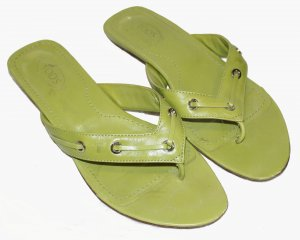 Tod's Sandalias con talón descubierto verde Cuero