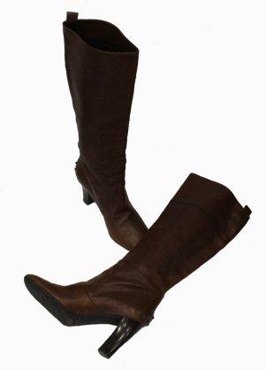 Tod's Jackboots dark brown leather