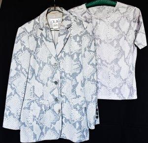 Todschicker Blazer mit passendem Shirt, schlangen-print