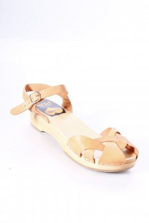 Toffel Clog Sandalen creme-beige Street-Fashion-Look