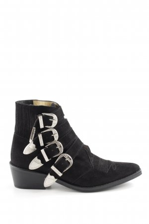Toga Pulla Ankle Boots schwarz Steppmuster Casual-Look
