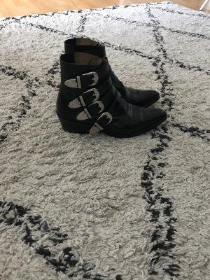 Toga Pulla Santiag noir cuir