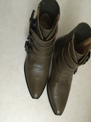 Toga Pulla Booties khaki leather