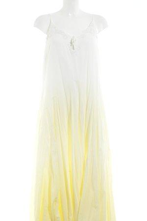 Together A-Linien Kleid gelb-creme Farbverlauf Hippie-Look