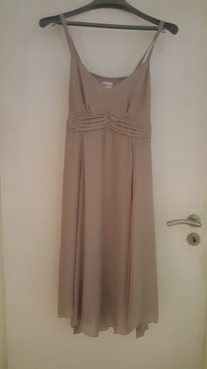 Together Chiffon Sommer Kleid Gr. 42 mit Bindeband grau