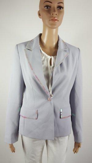 Together Damen Blazer Anzugjacke hellblau mit Pailetten Größe 34