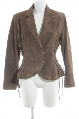 Together Lederjacke hellbraun Country-Look