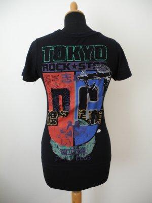 Tokio Rückenprint Farbe rot schwarz weiß türkis cool Clubbing Logo