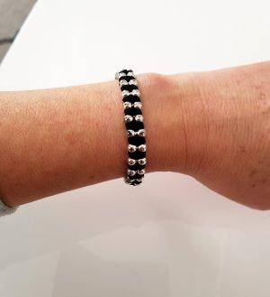 Bracelet black-silver-colored