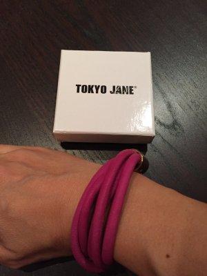Tokyo Jane Armband pink Leder #blogger