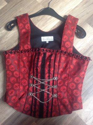 Lisas Landhaus Traditional Camisole dark red-black