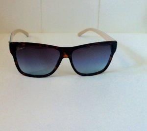 Gucci Hoekige zonnebril lichtblauw-room Acetaat