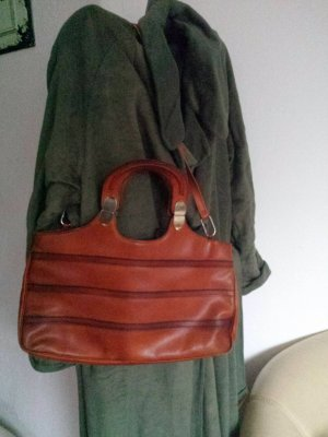 Toll Vintage Shopper Tasche Schultertasche Unikat Echt Leder 70er