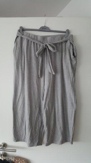 Pantalón pirata gris claro Algodón
